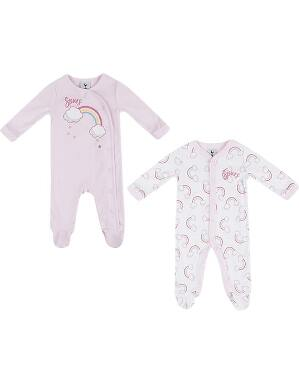 Spurs Baby Girl Rainbow Print Sleepsuits