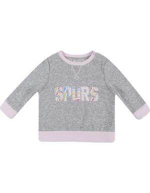 Spurs Baby Girl Print Sweatshirt