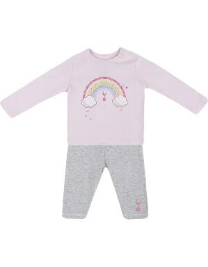 Spurs Baby Girl Rainbow Tee & Legging Set