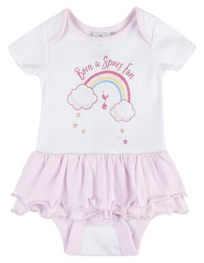 Spurs Baby Girl Rainbow Tutu Bodysuit