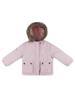 Spurs Baby Pink Fur Trim Parka Jacket