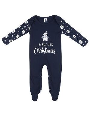 Spurs Baby My 1st Christmas Sleepsuit