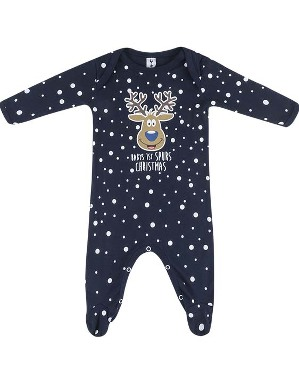 Spurs Baby Rudolph My 1st Christmas Sleepsuit