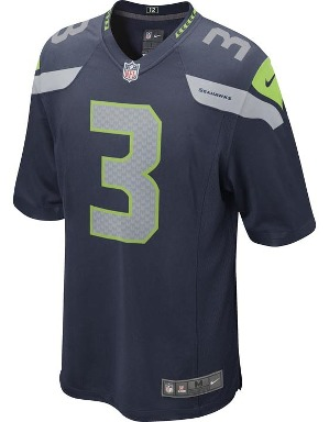 Nike Adult Seattle Seahawks Russel Wilson NFL Game Jersey