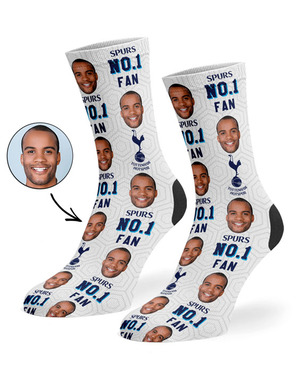 Spurs Personalised Number 1 Fan Socks