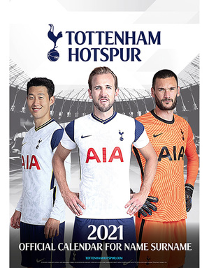 Spurs Personalised Calendar 2020