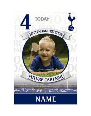 Personalised Spurs Crest Gift Card