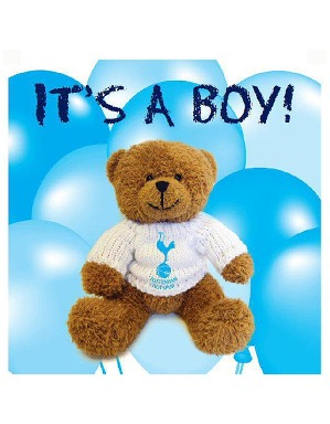 Spurs It's A Baby Boy Card