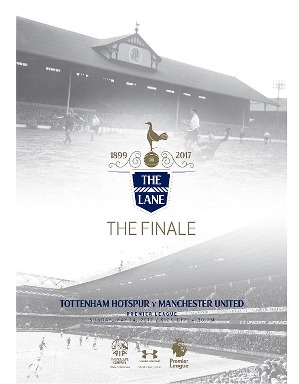 Spurs v Manchester United Programme The Lane Finale