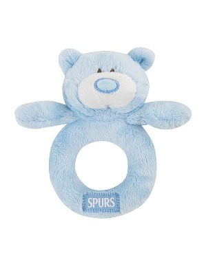 Spurs Blue Snuggles Rattle