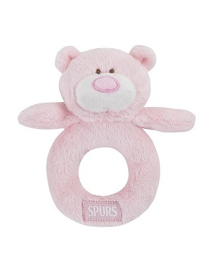Spurs Pink Snuggles Rattle