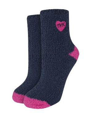 Spurs Womens Navy Sleepsocks