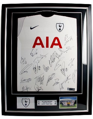 Spurs 2017/2018 Framed Signed Shirt