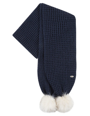 Spurs Ladies Navy Pom Pom Scarf