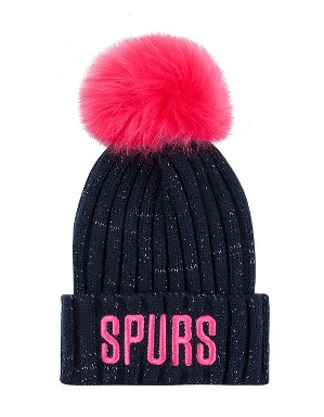 Spurs Girls Glitter Beanie
