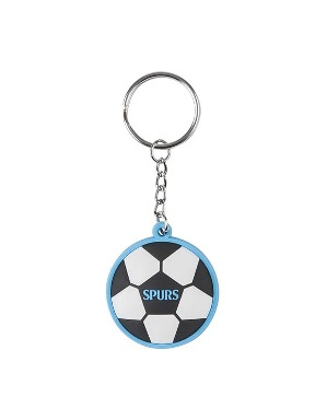 Spurs Silicon Football Keyring