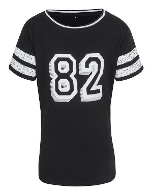 Spurs Girls Long Split Hem T-shirt