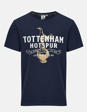 Spurs Mens Tottenham Hotspur and Cockerel Print Tee
