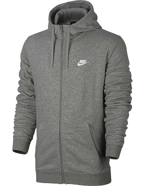 Nike Mens NSW Club Full Zip Hoodie