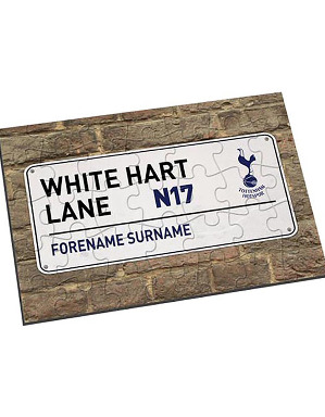 Spurs Personalised Street Sign Jigsaw