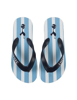 Spurs Kids Stripe Flip Flops