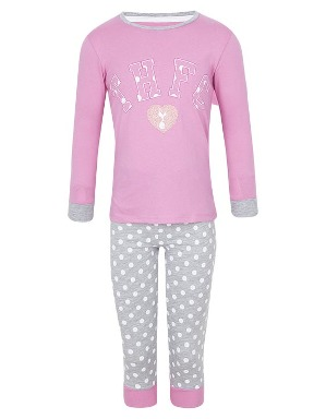 Spurs Younger Girls THFC Heart Print PJs