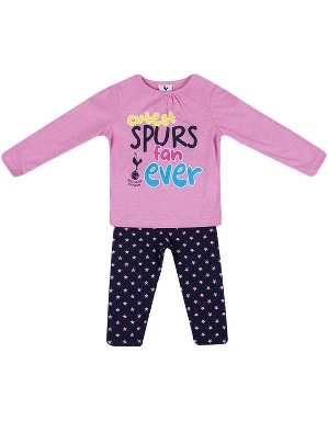 Spurs Baby Girls Tee and Legging Set