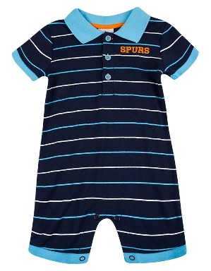 Spurs Baby Boy Stripe Polo Romper