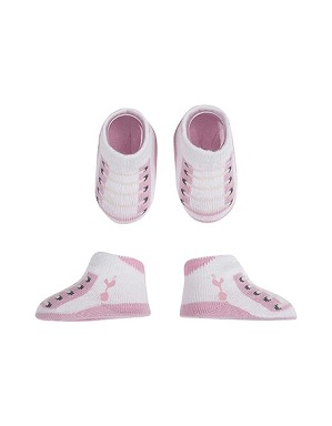 Spurs Baby Girls 2 Pair Bootie Set