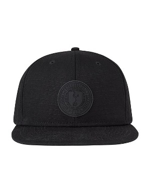 Spurs Adult Black Ripstop Snapback