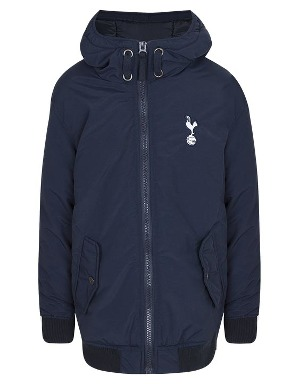 Spurs Boys Hooded Bomber Jacket