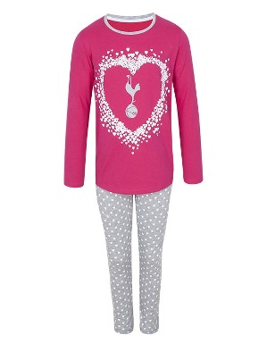 Spurs Older Girls Heart Cockerel PJs