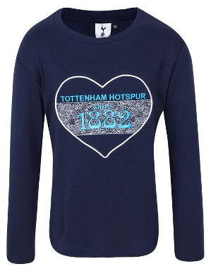 Spurs Girls Tottenham Embroidered L/S T-shirt