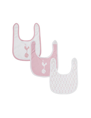 Spurs Baby Girls 3 Pack Bibs