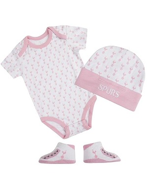 Spurs Baby Girls 3 Piece Set