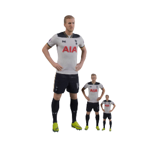 Spurs 3D Printed Player Model (6cm approx)