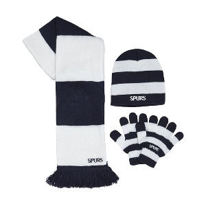 Spurs Boys Scarf Gloves and Hat Set