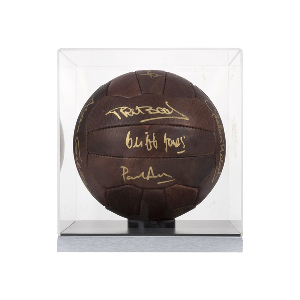 Spurs Legends Signed Ball in Cube