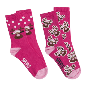 Spurs Womens Reindeer Socks