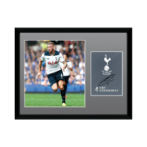 2016/2017 Toby Alderweireld Signed Picture