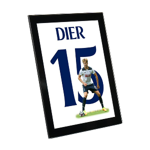 Spurs Dier Glass Framed Print
