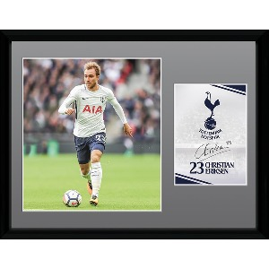 Spurs Eriksen 2017/2018 Framed Picture