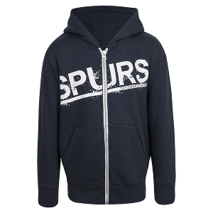 Spurs Boys Distressed Zip Up Hoodie