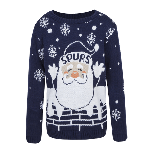 Spurs Kids Santa Christmas Jumper