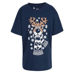 Spurs Kids Reindeer Christmas T-shirt