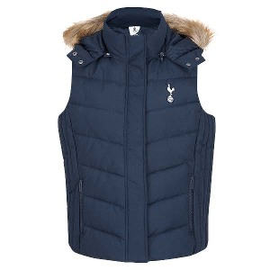 Spurs Womens Fur Trim Hooded Gilet