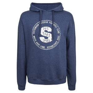 Spurs Mens S Print Hooded Jumper