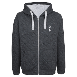 Spurs Mens Quilted Hoodie