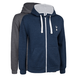 Spurs Mens Full Zip Essential Hooded Top