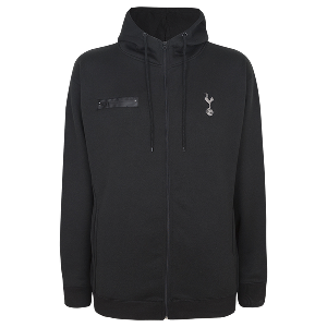 Spurs Mens Polycotton Full Zip Hoodie
